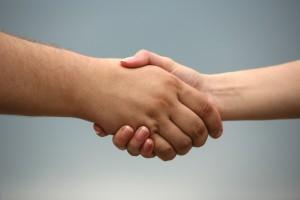 long-term loans - Business handshake
